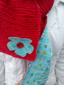 echarpe laine tissus ROUGE