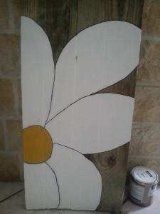 Fleurs sur planche