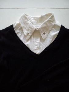 pull V col chemise